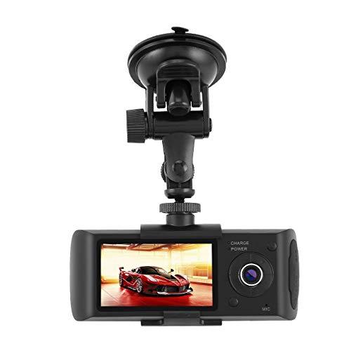 Dual Lens GPS Camera HD Car DVR Dash CAM Video Recorder G-Sensor w/Night Vision Lock Button Automatic Cycle Recording of Ballylelly