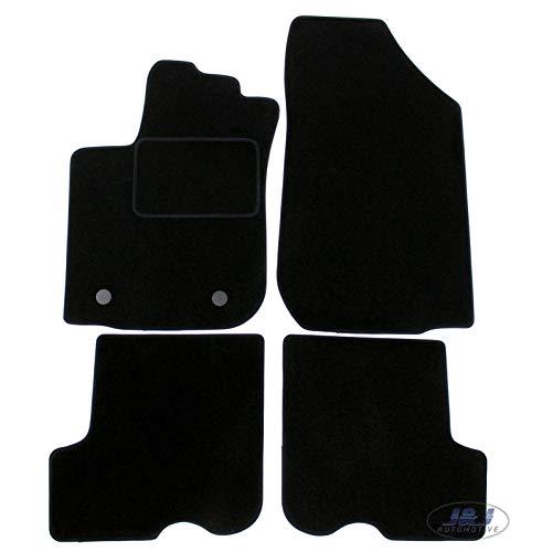 J&J AUTOMOTIVE | Tapis DE Sol Noir Velours Compatible avec Dacia SANDERO STEPWAY 2012-2020 4pc