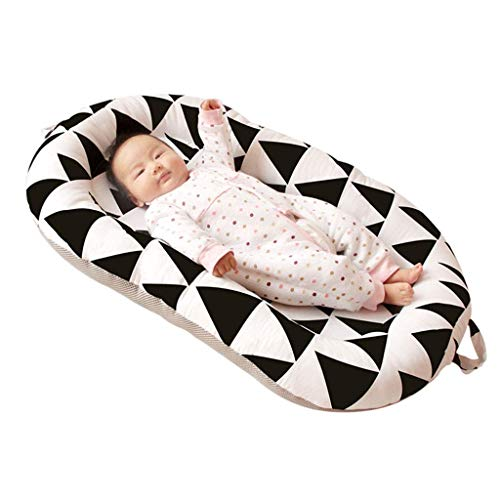 Lowest Price! YRR Baby Lounger,Baby Nest 100% Organic Cotton Breathable and Hypoallergenic Newborn L...
