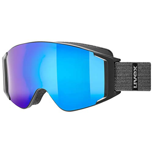 uvex Unisex-Adult, g.gl 3000 TO ski goggles, black mat, one size