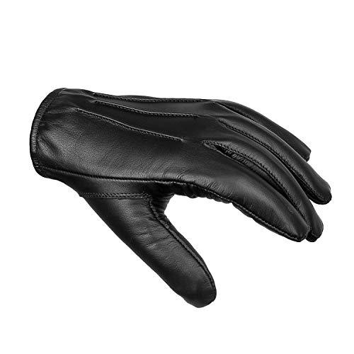 Foxter Bike Wear Heren Echt Leer Mode Kevlar Cut Weerstand Handschoenen Rijden Politie Jurk Winter Werk Handschoenen