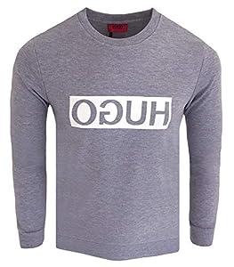 HUGO Herren Sweatshirt Dicago,Grau (Open Grey 061),Small