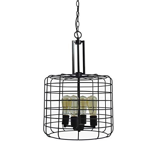 Design House 587337 Ajax Industrial Modern Indoor Light with Metal Wire Cage, Chandelier, Coffee Bronze, 3 Piece