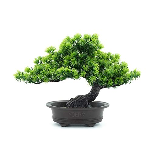 yoerm Artificial Bonsai Juniper Tree for Home Office Indoor Showcase Decor