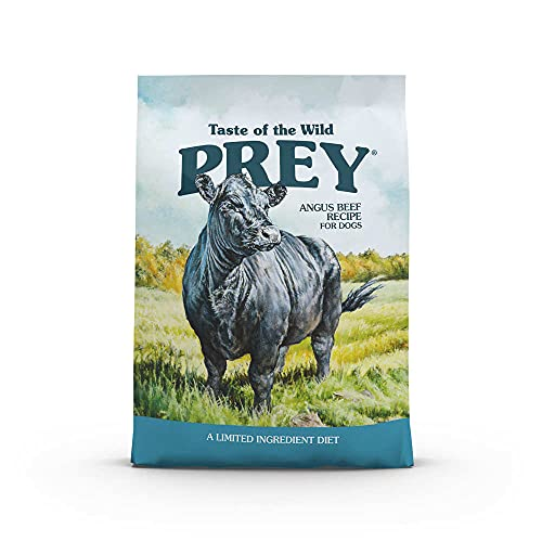 Taste of the Wild Prey Real Meat High Protein Angus Beef Limited Ingredient Dry Dog Food Grain-Free Recipe Made with Real Pasture-Raised Beef and Probiotics for All Life Stages 25lb