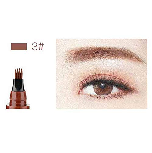 BPYYY Vier-Gabel-Augenbrauen-Bleistift Vier-Zweig-Wasser-Augenbrauen-Bleistift Vier-Kopf-Augenbrauen-Bleistift Dicker Flüssiger Augenbrauen-Bleistift,03#Redbrown