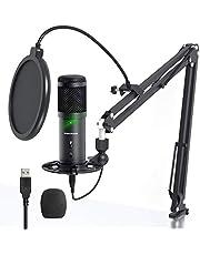 Sudotack Professional ST900 USB-podcastmicrofoon, 192 kHz/24 bits, studio-nieren, condensatormicrofoon, kit met boom-arm, popfilter, shock mount voor Skype YouTuber gaming home opname