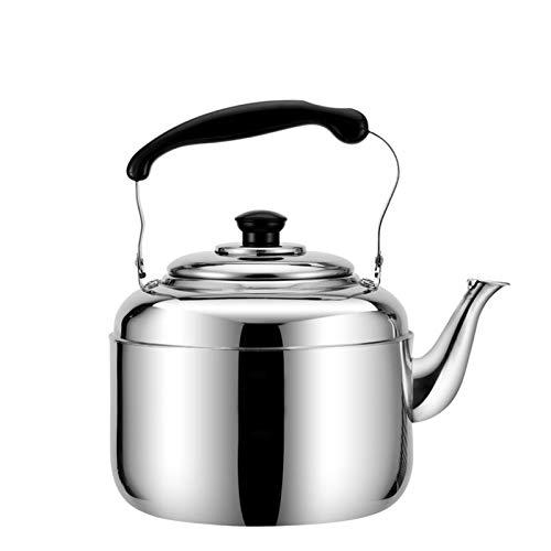 the teapot company Kettle Silbistoso Kettle Classic Silver Silver Acero Inoxidable - Handle ergonómico frío, Gran Capacidad para Estufa Top Tetal (tamaño : 3L)