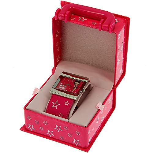 Betty Boop - BB0043 - Montre Femme - Quartz - Analogique - Bracelet Cuir Rose