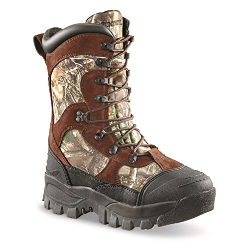 Huntrite Men's 1,600-gram Insulated Waterproof Hunting Boots, Realtree Edge, 11.5D (Medium)