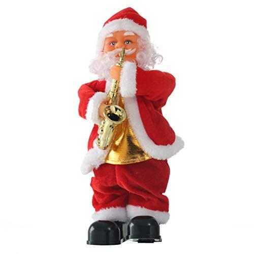Toyvian 1pc bambola di Babbo Natale che si muove danzando cantando Babbo Natale figura musicale giocattolo per bambini