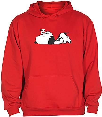 Camisetas EGB Sudadera Adulto/Niño Snoopy ochenteras 80´s Retro (Rojo, 3XL)