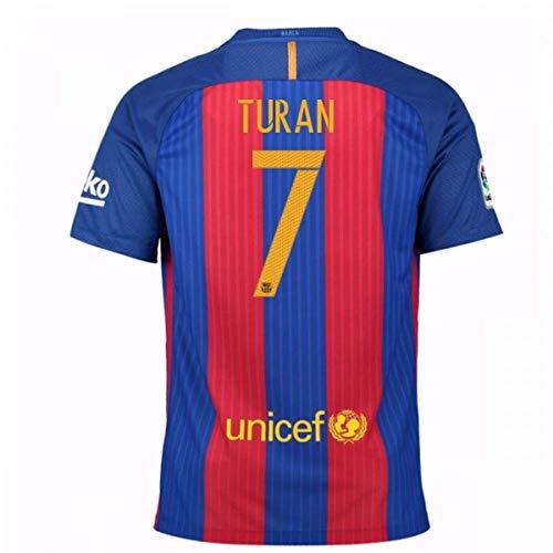 Nike 2016-17 Barcelona Home Football Soccer T-Shirt Trikot (Arda Turan 7)
