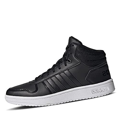 adidas Hoops 2.0 Mid, Basketball Shoe Mujer, Core Black/Core Black/Cloud White, 39 1/3 EU