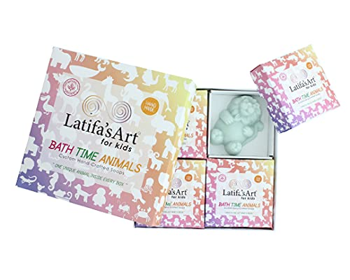 LatifaArt Kids Bar Soap for Fun Bath Time