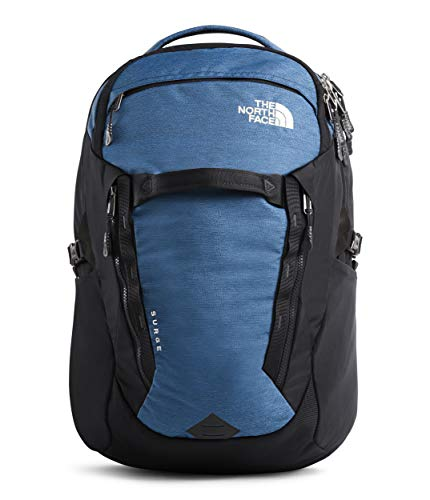 The North Face Surge Backpack, Shady Blue Light Heather/Weathered Black, One Size