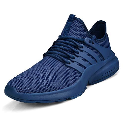 ZOCAVIA Damen Herren Turnschuhe Ultraleichte Laufschuhe Atmungsaktive rutschfest Sportschuhe Gym Tennis Schuhe Blau 43