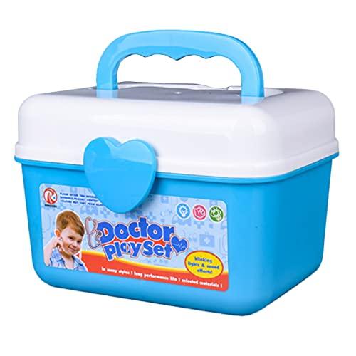Ruby569y - Kit giocattolo per dentista, per giocare a fingere medico, infermiera, per 3 anni, ragazzi e ragazze - blu