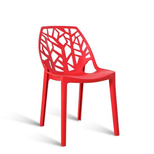 CJH Europese stoelen, kruk van kunststof, eetkamerstoelen, restaurants, creatieve vrije tijd, stoelen van kunststof, ligstoelen, rood