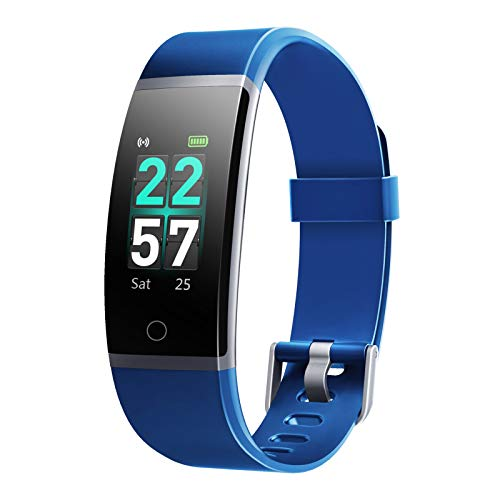 Letsfit Fitness Tracker, Activity Tracker Watch with Heart Rate Monitor, IP68 Standard Smart Watch with Step Counter, Calorie Counter, Call & SMS Pedometer Watch for Women Men