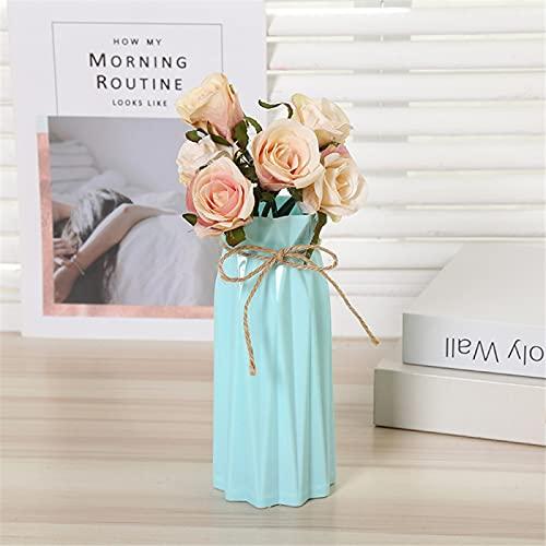 RZHIXR Origami Plastic Vase Color Imitation Ceramic Flowerpot Flower Basket, Home Decoration Flower Arrangement Container, Suitable For Dried Flowers, Imitation Flowers