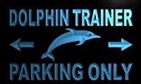 Multi Color m282-c Dolphin Trainer Parking Only Neon LED Sign with Remote Control, 20 Colors, 19 Dynamic Modes, Speed & Brightness Adjustable, Demo Mode, Auto Save Function