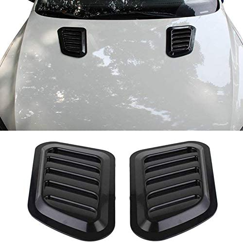 KGASYUI Car Hood It is OFFer very popular Vent Scoop 2 Universal X ABS Decorative Int