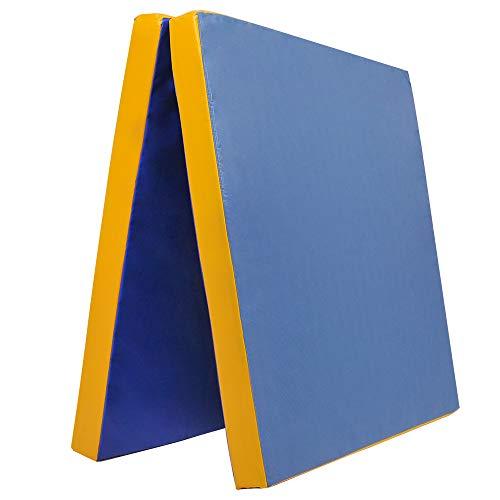 Klappbare Weichbodenmatte RG 35 | GELB - BLAU | 200 x 100 x 8 cm