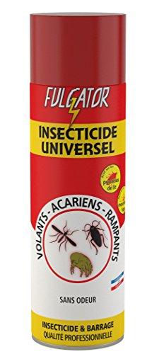 FULGATOR - Insecticide UNIVERSEL - Action 3 en 1 contre les insectes volants, insectes rampants et acariens - Élimine les nuisibles et offre un effet barrage - Sans odeur - Fabriqué en France - 500mL
