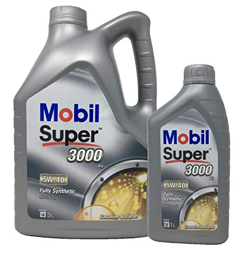 Aceite Lubricante Motor Sintético - Mobil Super 3000 X1 5W-40, pack 6 litros