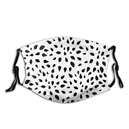 Zapato de cara Abstract Plant Spots Dots Black and White Facial Shield Breathable Face Cloth For Camping Men Women Boys Girls