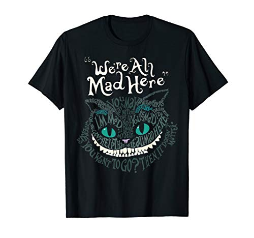 Cheshire doppelseitig Katze WE'RE ALL MAD HERE Smile T-Shirt