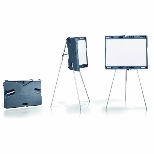 Ghent Attivo Presentation Easel - w/Built-In Whiteboard and Carrying Case - Made in the USA
