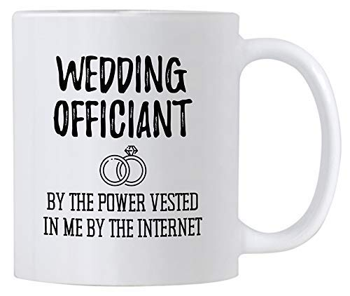 WTOMUG Funny Wedding Officiant Gift. 11 oz Ceramic Coffee Mug. By the...