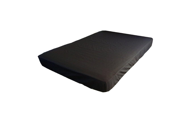 がっかりする溝配偶者ボックスシーツ ダブル オーダーメイドOK ロング対応 140cm×200cm×40cm マチ40 綿100% ブラック 黒