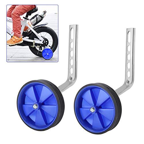 OhhGo Ruedas de Entrenamiento 2pcs niños Bicicleta estabilizadora Bicicleta estabilizadora Kit montado para niños niño niñas 12-20 Bicicleta Equilibrio Azul