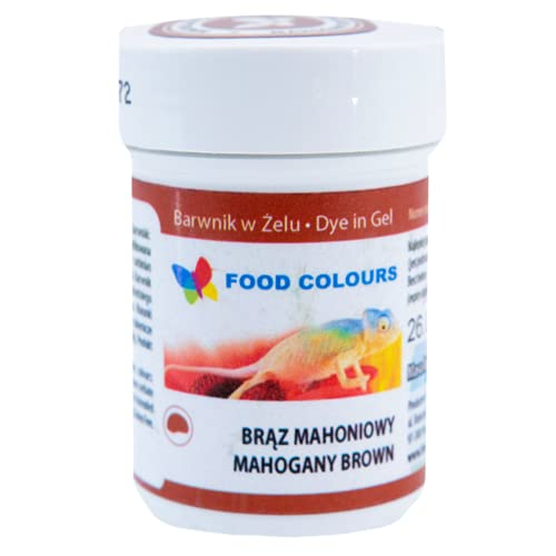 Food Colours   Barwnik spożywczy w żelu   Słoiczek 35 g (brąz mahoniowy)