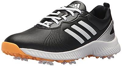 adidas Women's W Response Bounce Golf Shoe, core Black/FTWR White/Real Gold s, 8.5 Medium US