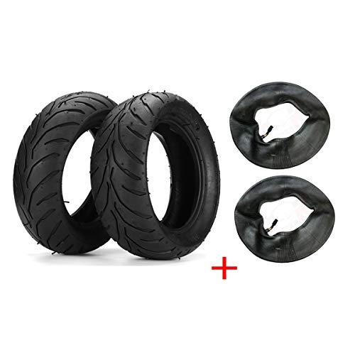 WCHAOEN 4PCS 47cc 49cc vorne + hinten Reifen Felge + Schlauch Mini Pocket Bike 110/50 / 6.5 + 90/65 / 6.5 Ersatzteile