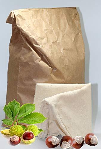 Rosskastanien-Granulat für Waschmittel 2,5kg inkl. Baumwoll-Waschbeutel