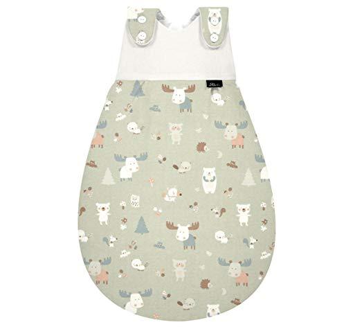 Set ALVI Baby Mäxchen Außensack Schlafsack mit Stoffwindel von Kinderhaus Blaubär/Ganzjahresschlafsack mitwachsend/Babyschlafsack
