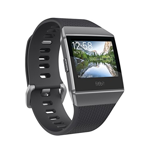 Fitbit Ionic スマートウォッチ Charcoal/Smoke Grey L/Sサイズ [日本正規品] FB503GYBK-CJK
