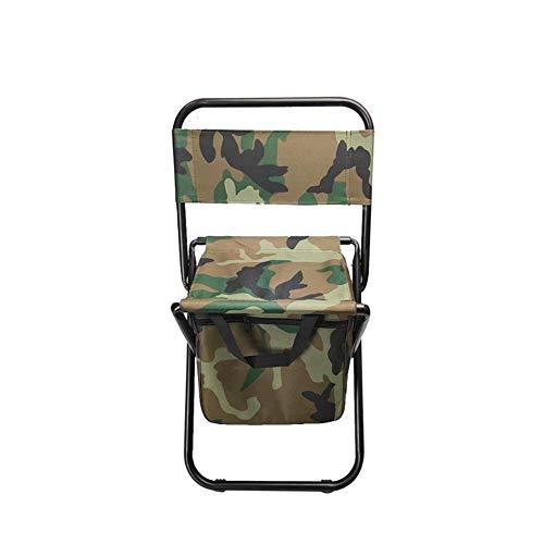 T-ara Suave y confortable Heces mochila portátil respaldo silla plegable protección del medio ambiente for cinturón resistente bolsa de camuflaje adecuado for portátil silla plegable al aire libre prá