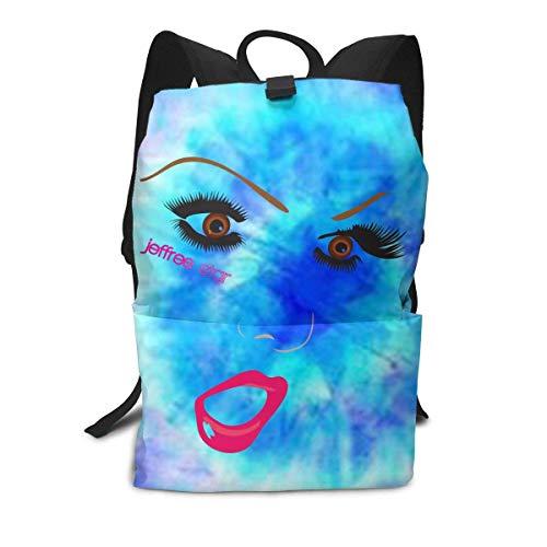 Homebe Mochila Unisex, Mochilas y Bolsas, Jeffree Beauty Blogger Star School College Bookbag for Girls Boys Fashion Travel Back Pack