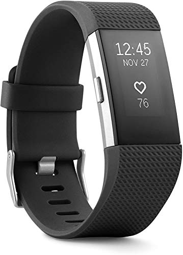 Charge 2 Superwatch Wireless Smart Activity and Fitness Tracker + Heart Rate and Sleep Monitor Smart Wristband, Black, Small (US Version)