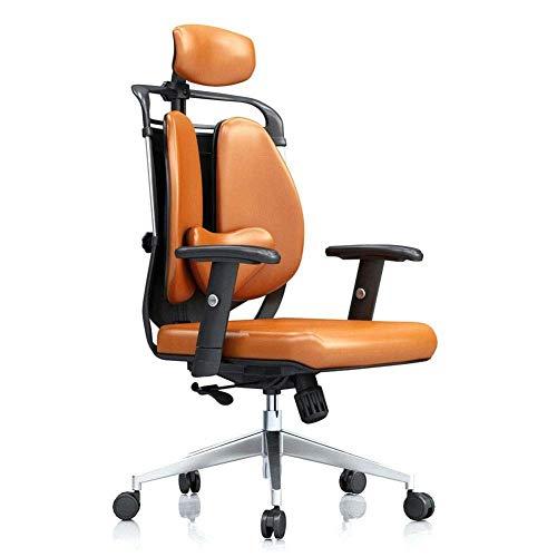 DBGS Bureaustoel, bureaustoel, ergonomische gamingstoel, leunstoel, E-Sport-riem Oranje.