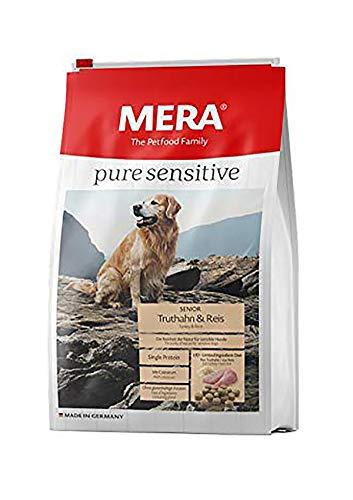 Mera pure sensitive senior kalkoen en rijst hondenvoer – droog voedsel voor de dagelijkse voeding van oudere, voedingsrijke honden, 4kg