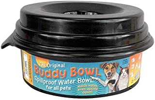 Buddy Bowl Spill Proof Water Bowl, 32ounce, Black