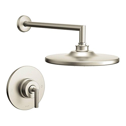 Moen TS22002EPBN Arris Posi-Temp Pressure Balancing Modern Shower Trim Kit with 10-Inch Eco-Performance Rainshower, Valve Required, Brushed Nickel