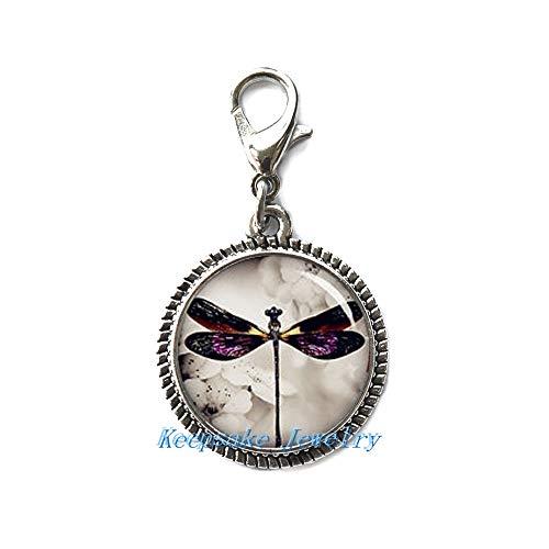 Libélula cremallera, ideal para collares, pulseras, llavero y pendientes encanto, encanto libélula bisutería hecha a mano